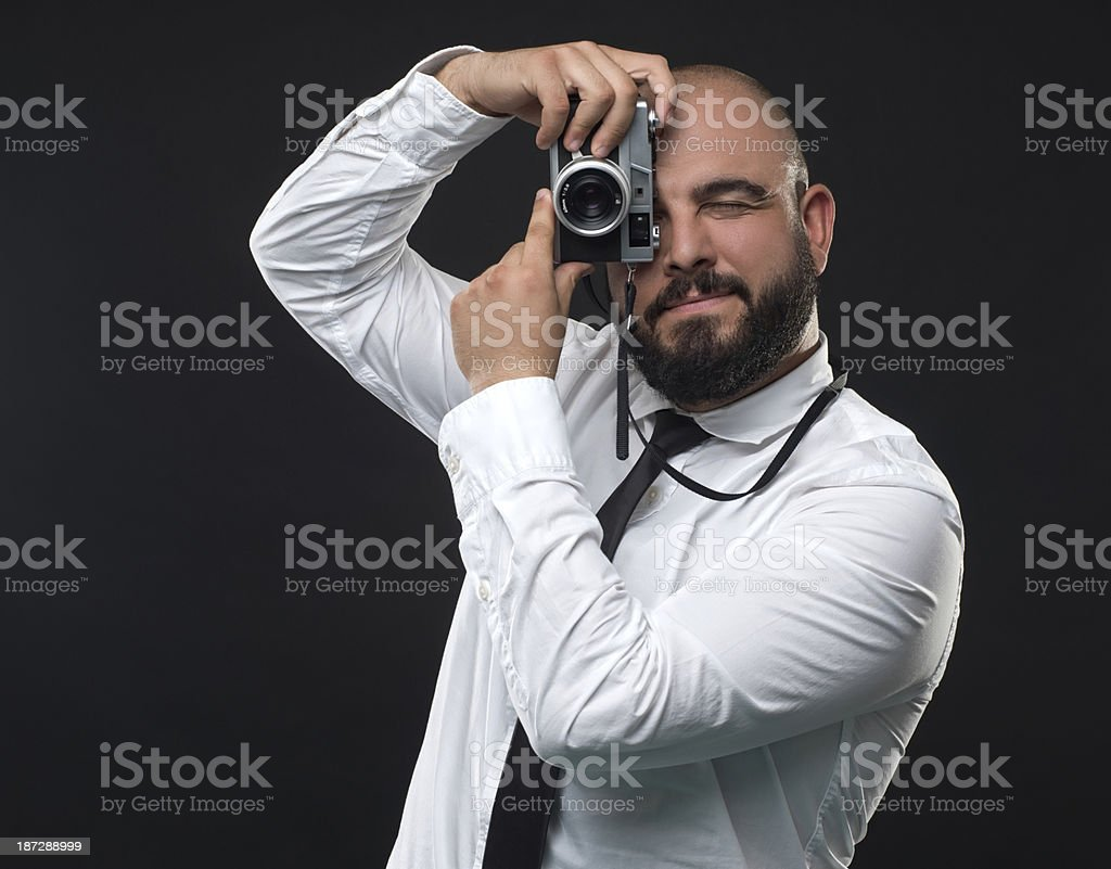 Portrait of a photographer stock photo