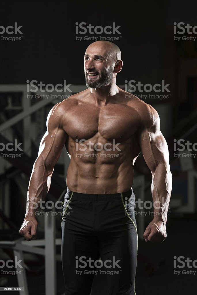 Portrait Of A Physically Fit Mature Man stock photo