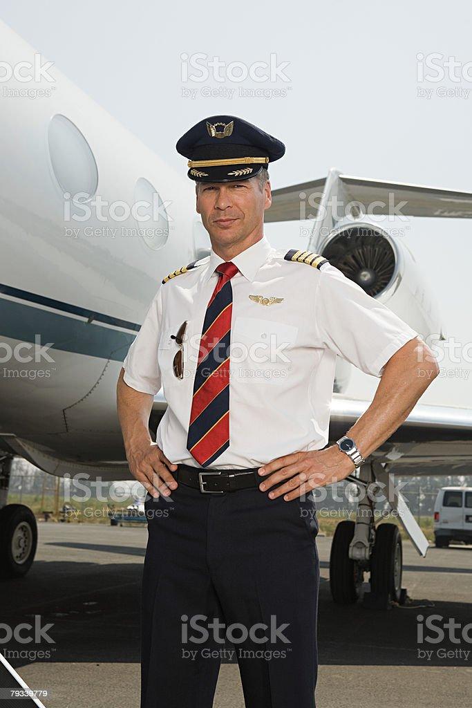 Portrait of a pilot royalty-free stock photo