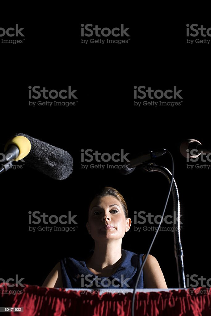 Portrait of a politician stock photo