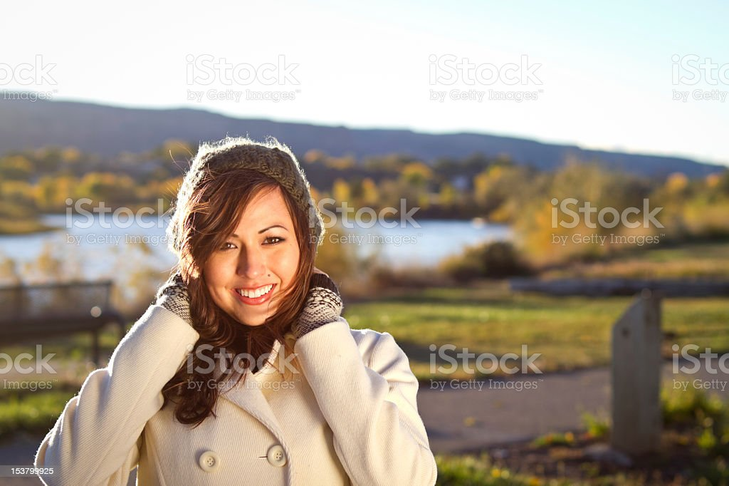 Portrait of a Pretty Girl in the Fall royalty-free stock photo