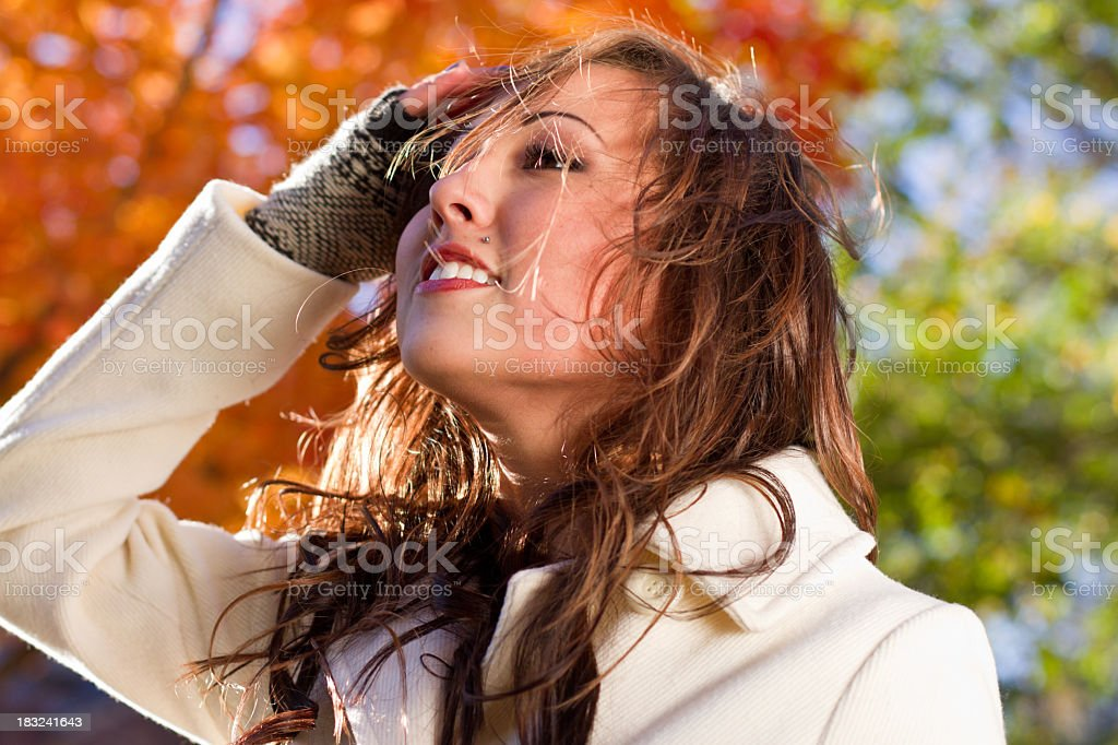 Portrait of a Pretty Girl, Tousled Hair royalty-free stock photo
