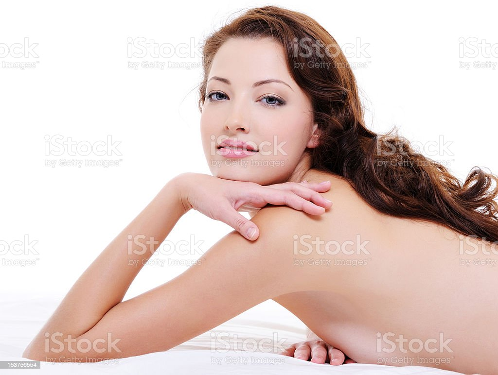 Portrait of a  pretty red hair woman with nude body royalty-free stock photo