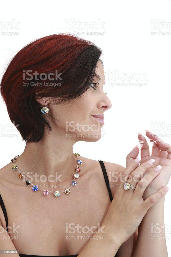 Portrait of a pretty woman. royalty-free stock photo