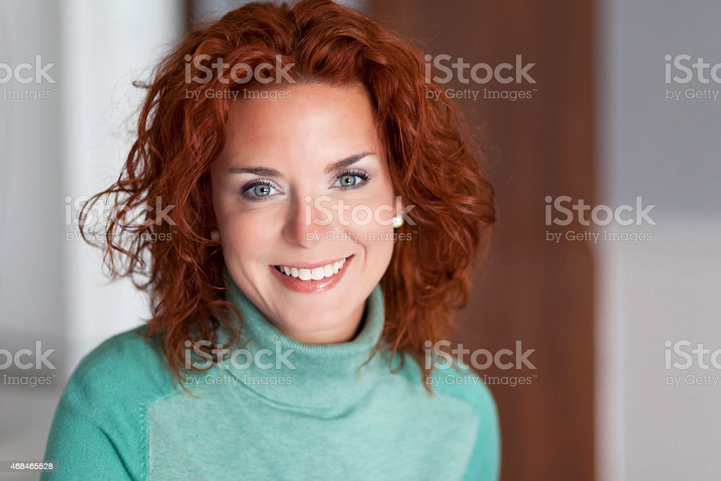 Portrait Of A Pretty Woman Smiling stock photo