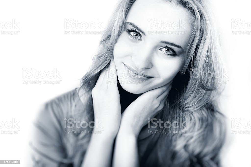 Portrait of a pretty young girl royalty-free stock photo