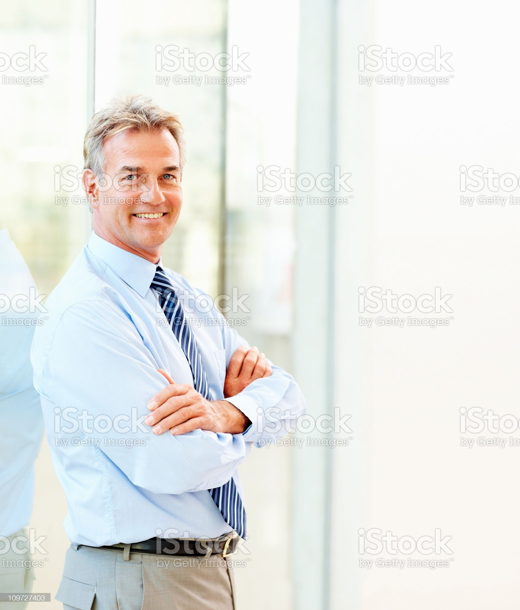 Portrait of a proud smiling mature businessman royalty-free stock photo