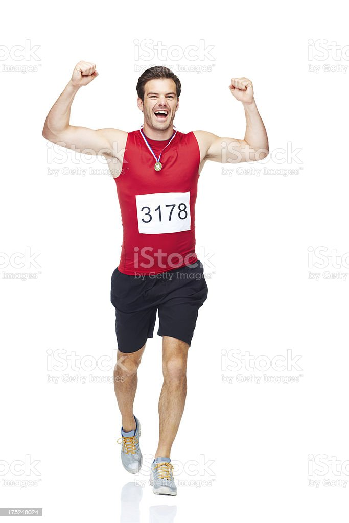Portrait of a race winner! royalty-free stock photo