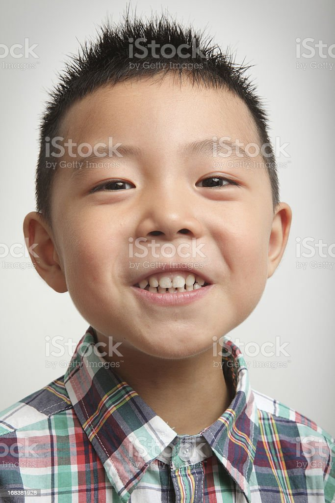 Portrait of a real kid royalty-free stock photo