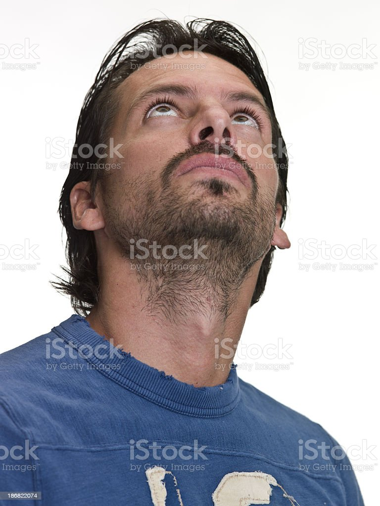 Portrait of a real man royalty-free stock photo