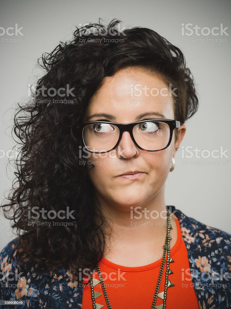 Portrait of a real young woman stock photo