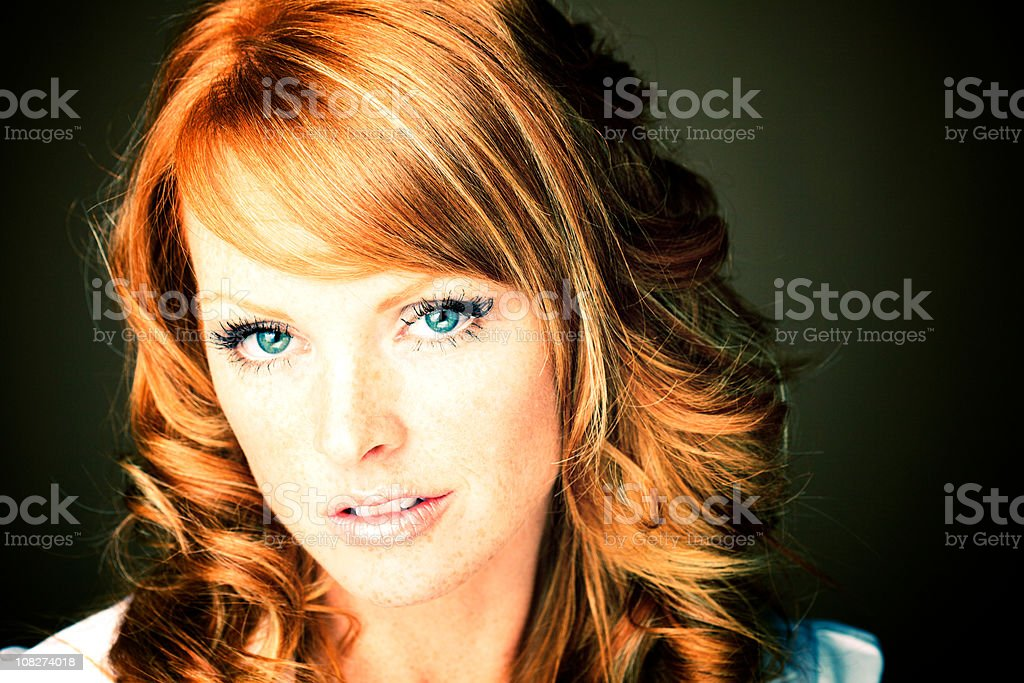 portrait of a red hair  woman royalty-free stock photo
