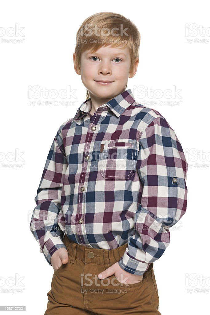Portrait of a red-haired boy royalty-free stock photo