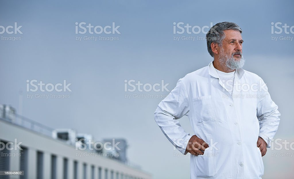 portrait of a renowned scientist/doctor royalty-free stock photo