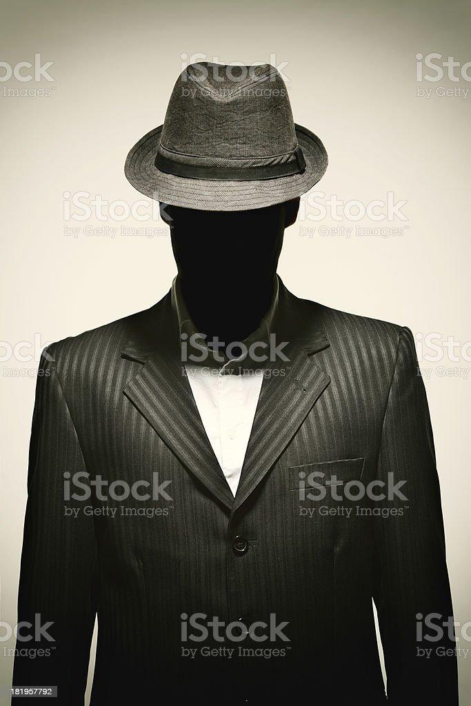 Portrait of a Retro Businessman royalty-free stock photo