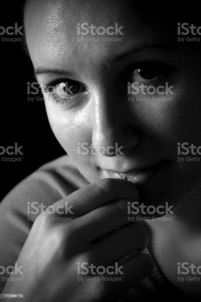 Portrait of a Russian woman royalty-free stock photo