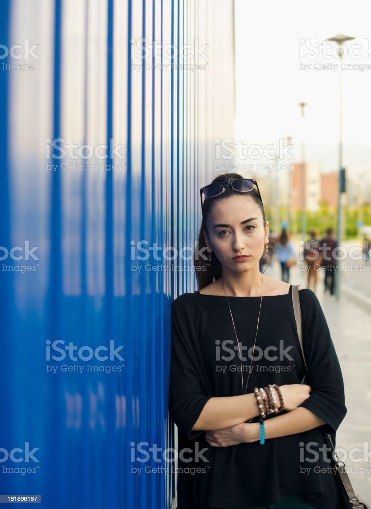 Portrait Of A Sad Woman royalty-free stock photo