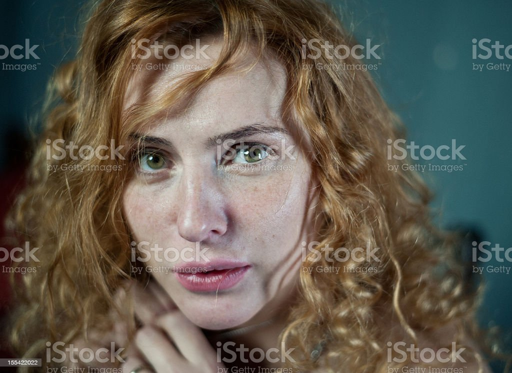 Portrait of a scary women royalty-free stock photo