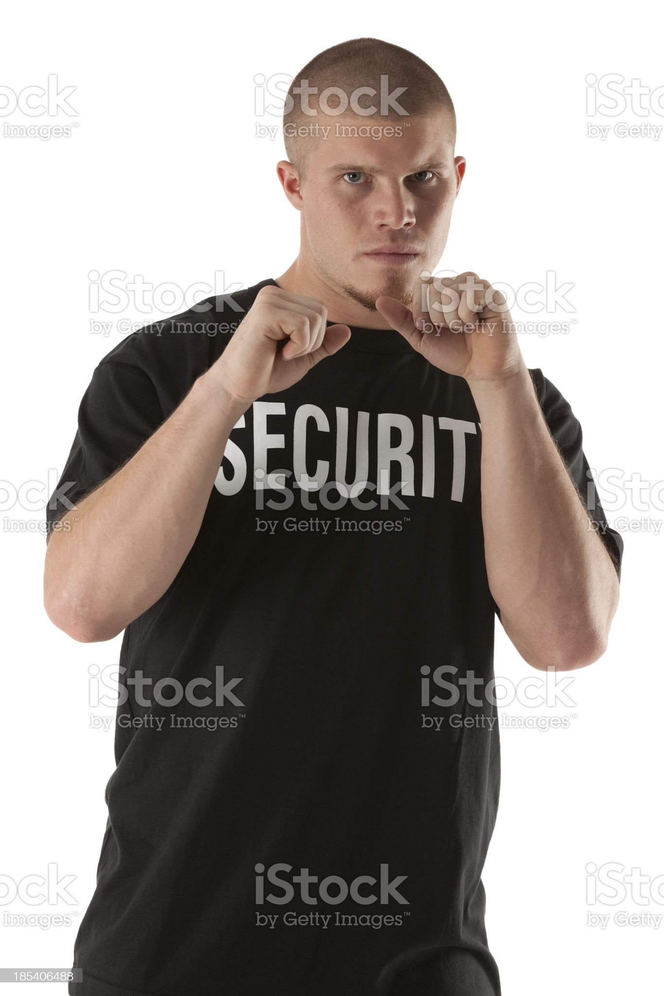 Portrait of a security guard royalty-free stock photo