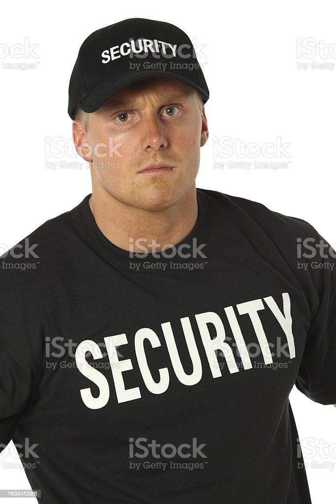 Portrait of a security person royalty-free stock photo
