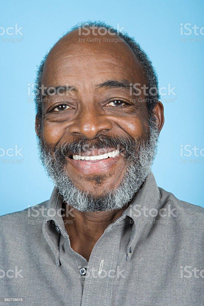 Portrait of a senior adult man stock photo