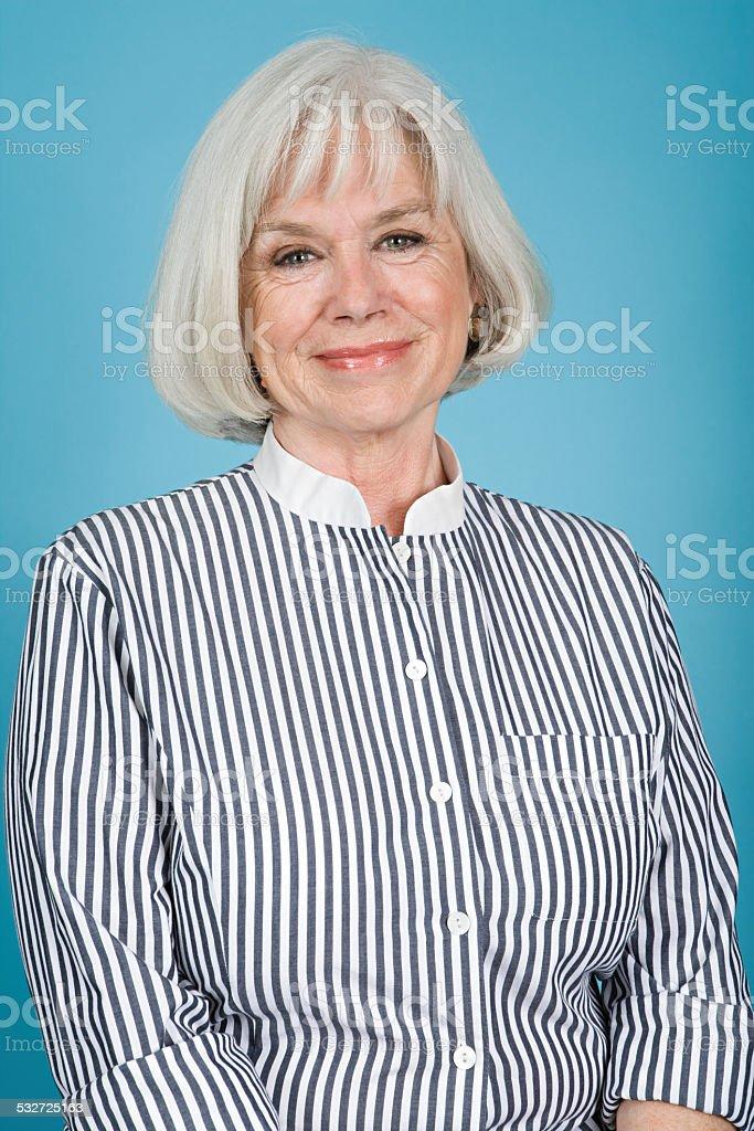 Portrait of a senior adult woman stock photo