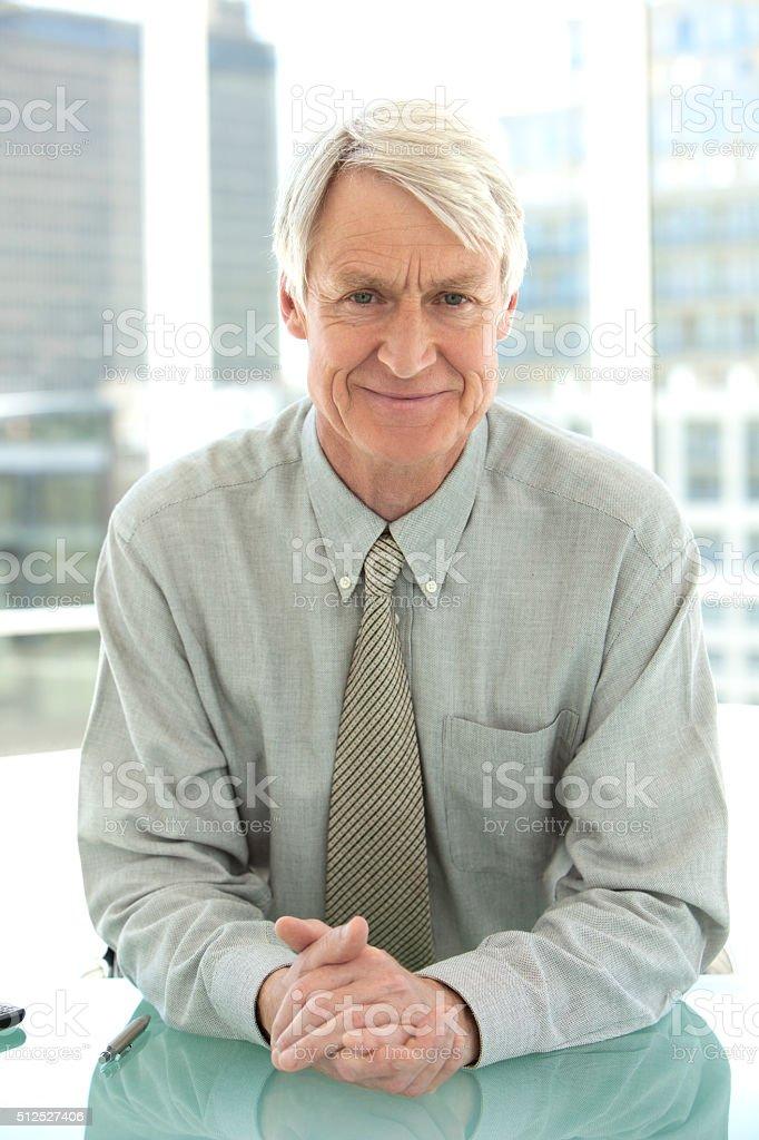 Portrait of a senior businessman stock photo