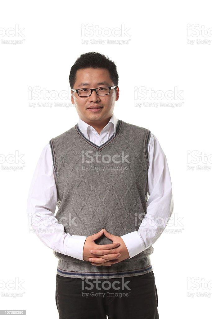 Portrait of a senior businessman smiling royalty-free stock photo