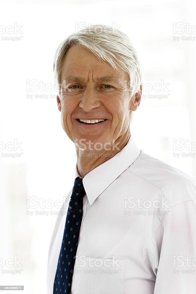 Portrait of a senior CEO stock photo