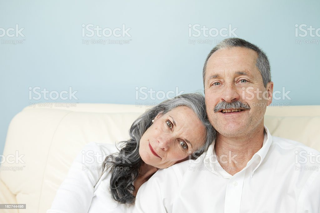 Portrait of a Senior couple royalty-free stock photo