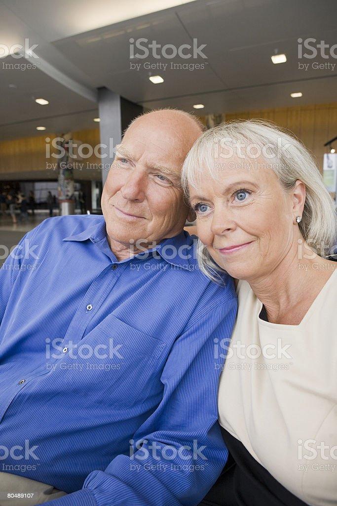 Portrait of a senior couple royalty-free stock photo