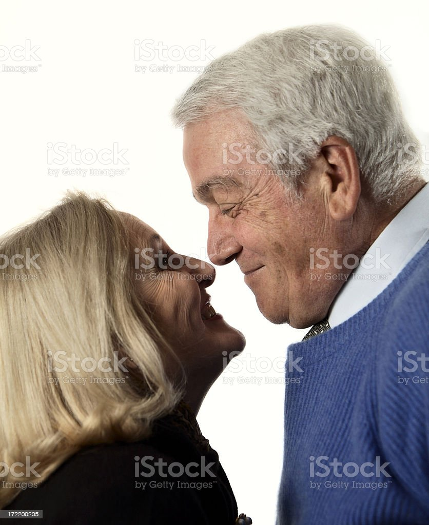 Portrait of a senior couple smiling and happy. royalty-free stock photo