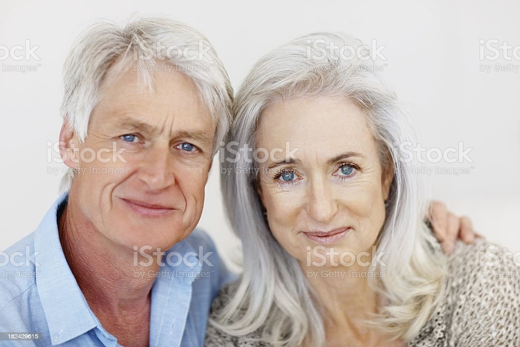 Portrait of a senior couple smiling royalty-free stock photo