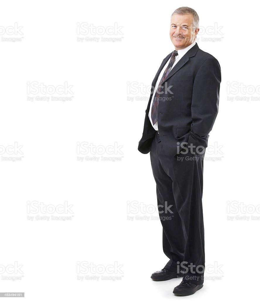 Portrait of a senior executive royalty-free stock photo