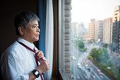 Portrait of a senior Japanese businessman