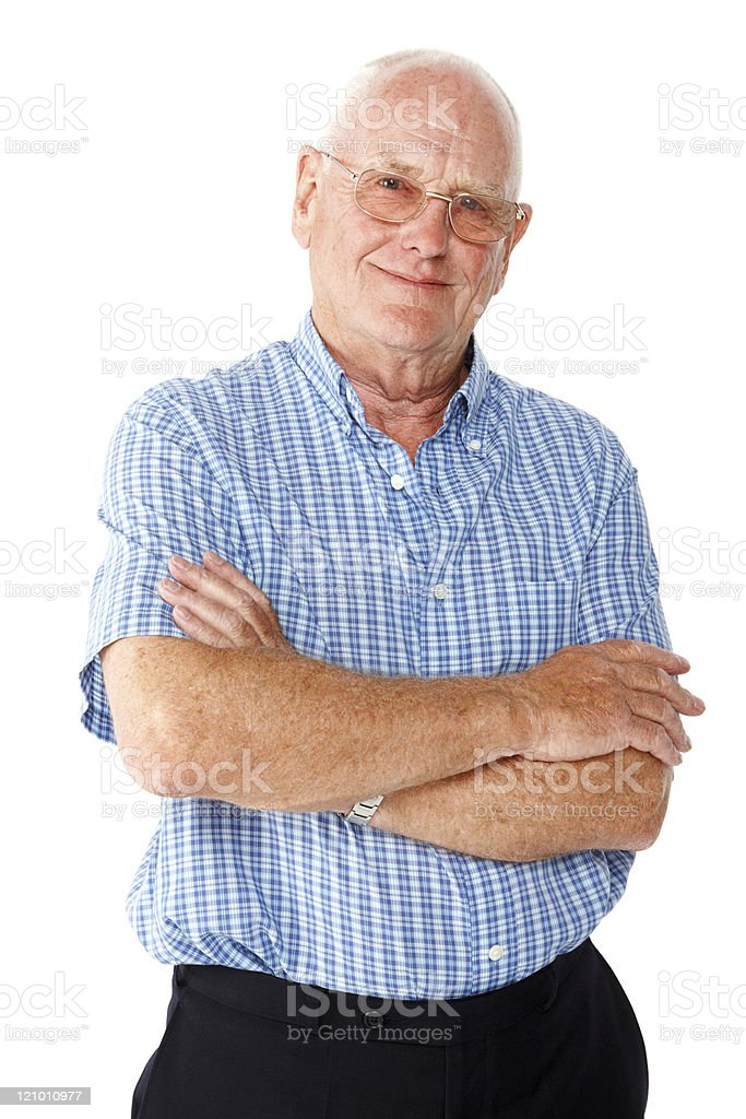 Portrait of a Senior Man - Isolated royalty-free stock photo