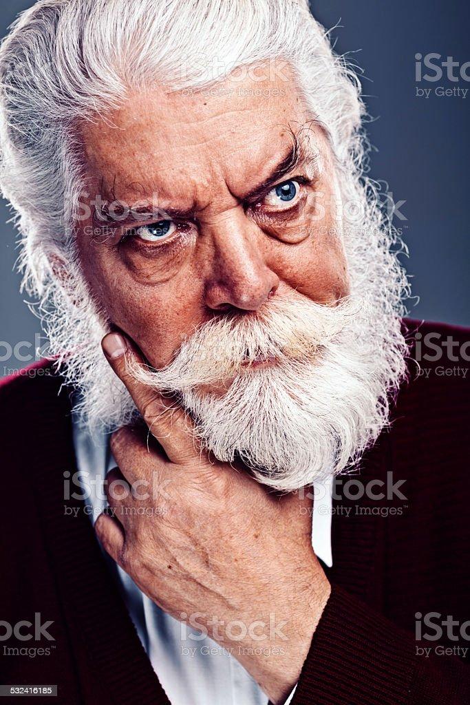 Portrait of a senior man. stock photo