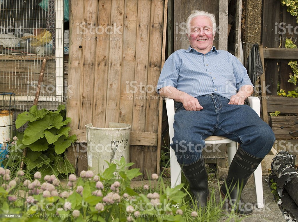Portrait of a senior man royalty-free stock photo