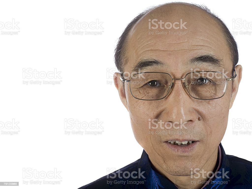 Portrait of a senior man royalty-free stock photo