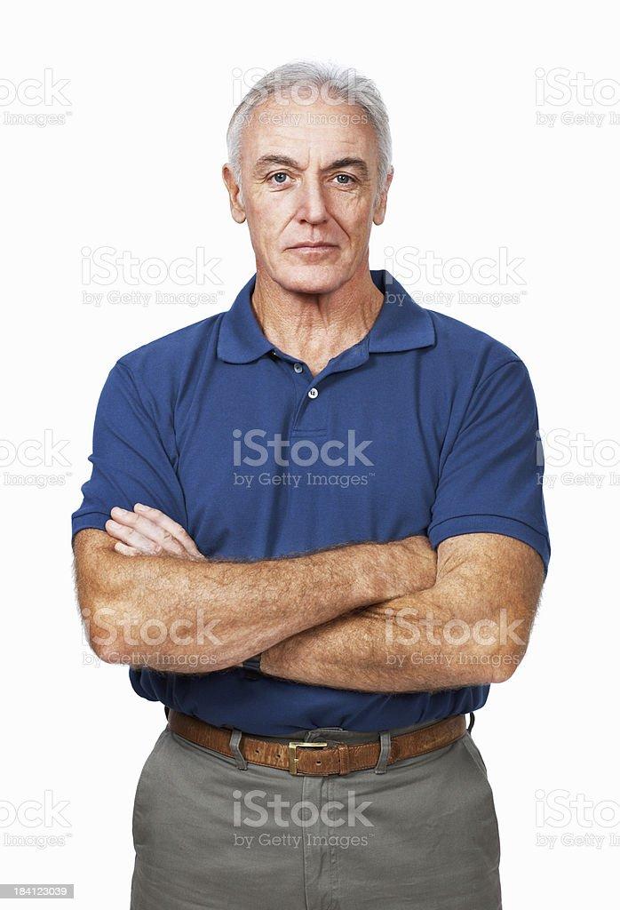 Portrait of a senior man standing royalty-free stock photo