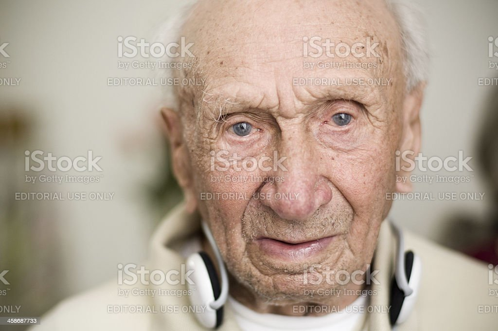Portrait of a senior over 100 years old stock photo