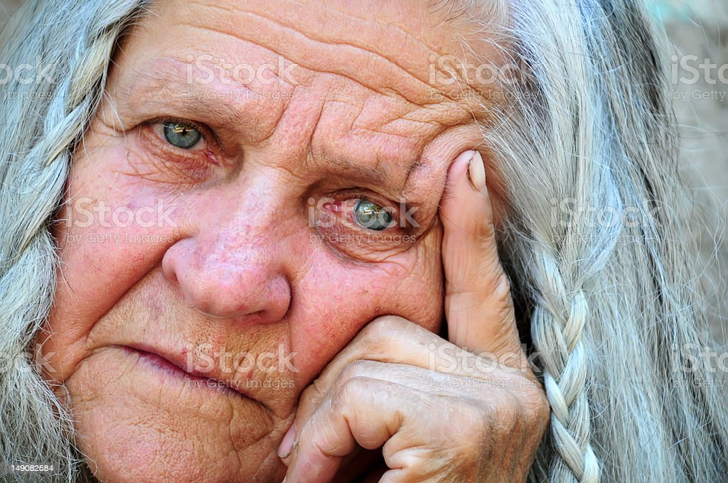 Portrait of a senior woman royalty-free stock photo