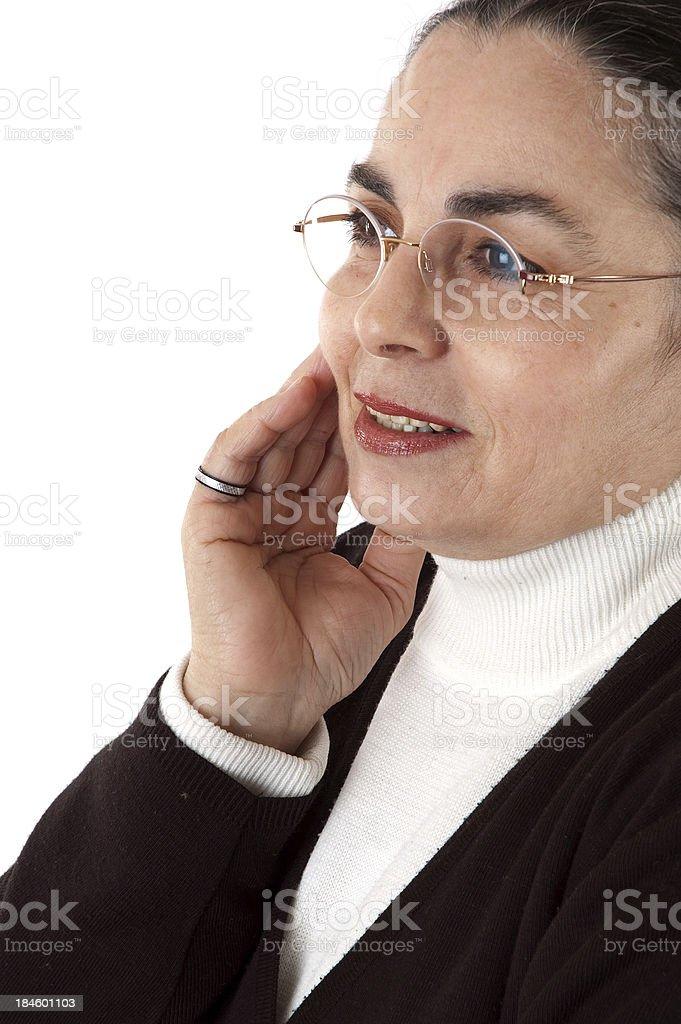 portrait of a senior woman royalty-free stock photo
