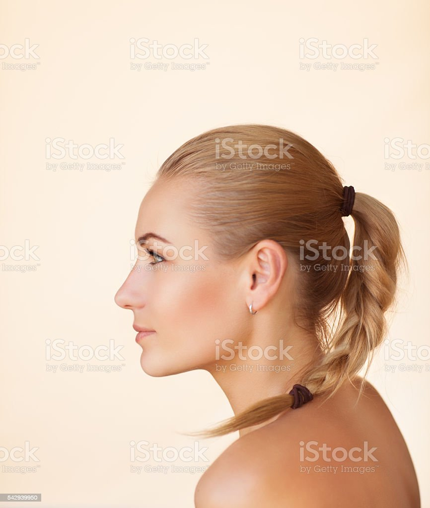 Portrait of a sensual female stock photo
