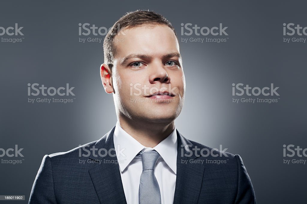 Portrait of a serious business man royalty-free stock photo