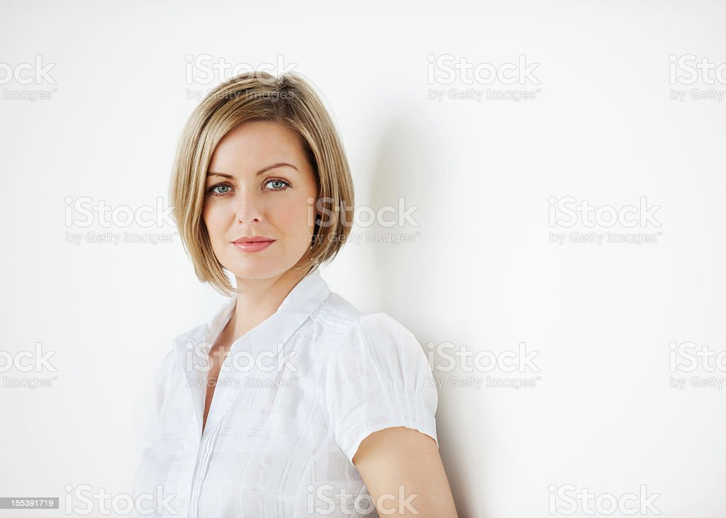 Portrait of a Serious Businesswoman royalty-free stock photo