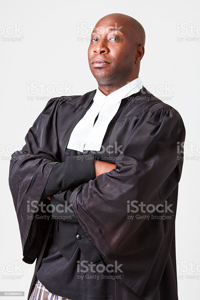 Portrait of a serious lawyer stock photo