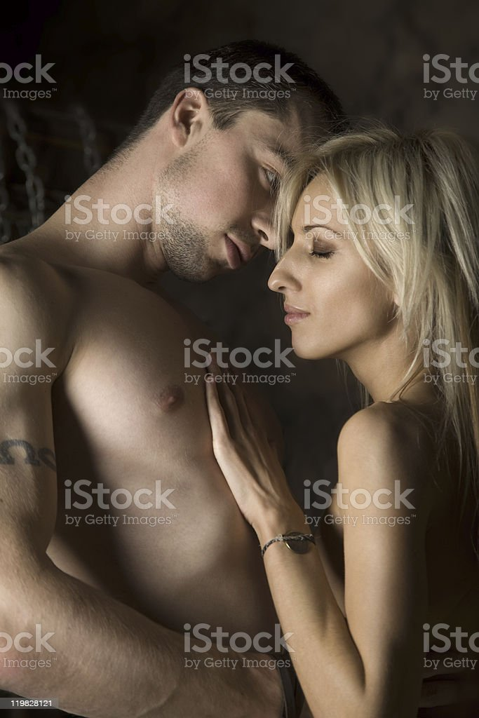 Portrait of a sexy couple royalty-free stock photo