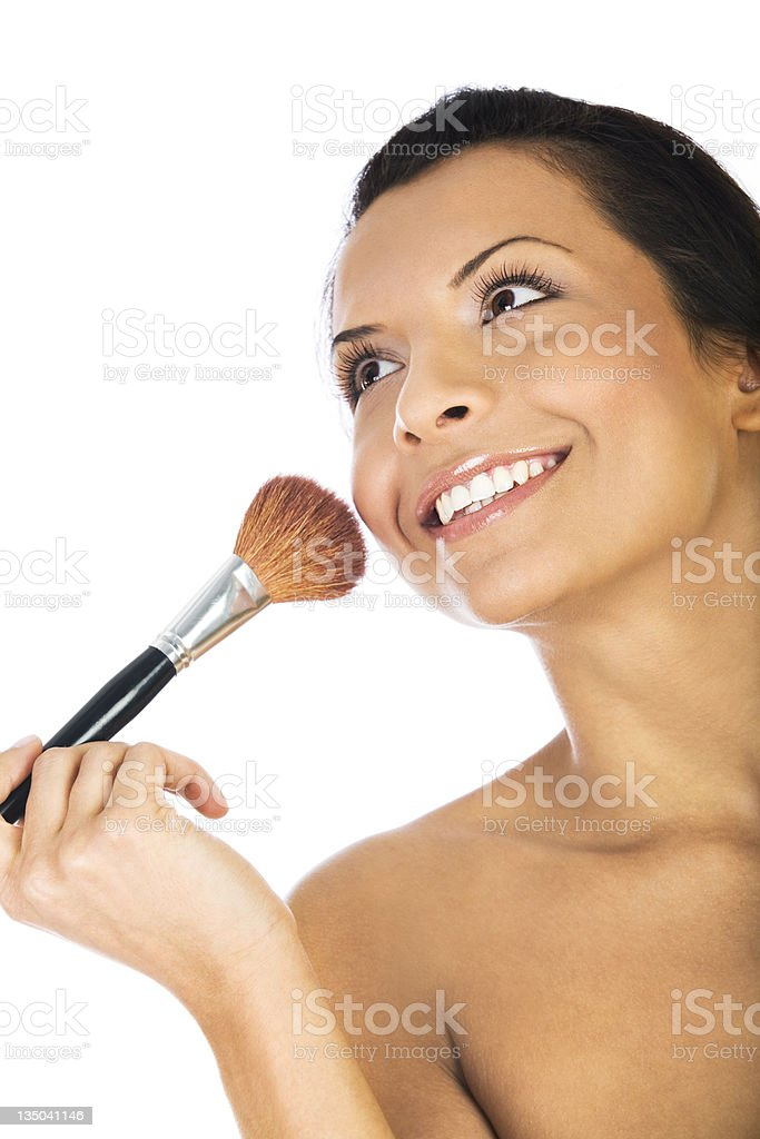 portrait of  a sexy girl putting make-up royalty-free stock photo