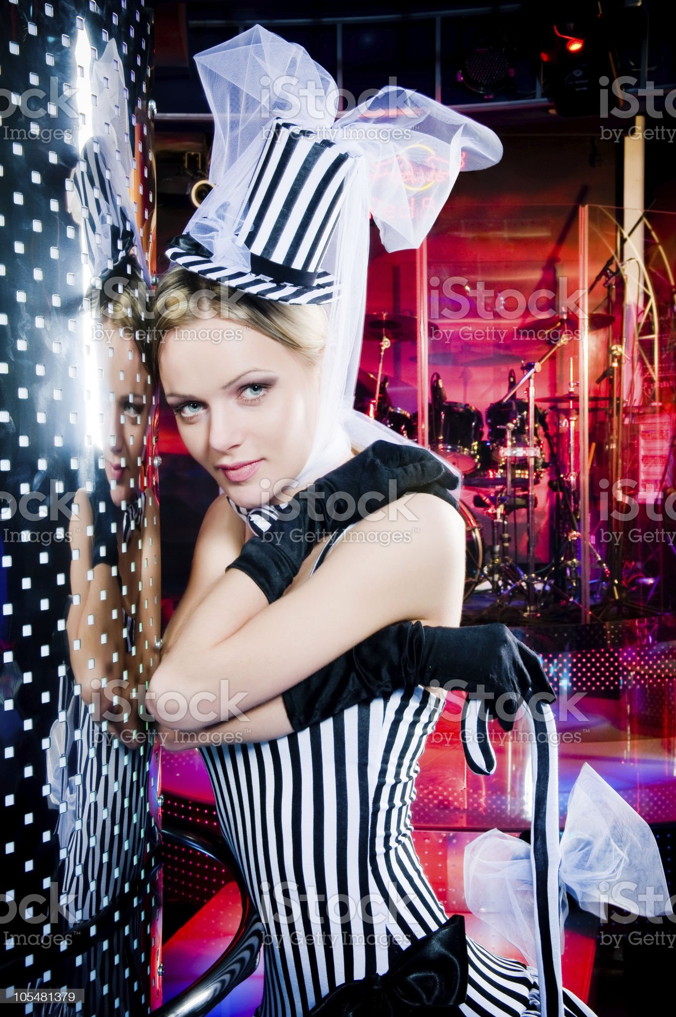 Portrait of a sexy showgirl royalty-free stock photo